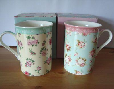 Nice Forever England Boxed Mug Melissa Or Martha In A Pretty Floral Chintz Design