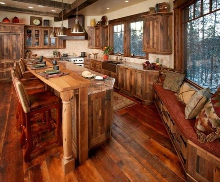 47 smart rustic western style kitchen decorations ideas rustic rh pinterest com