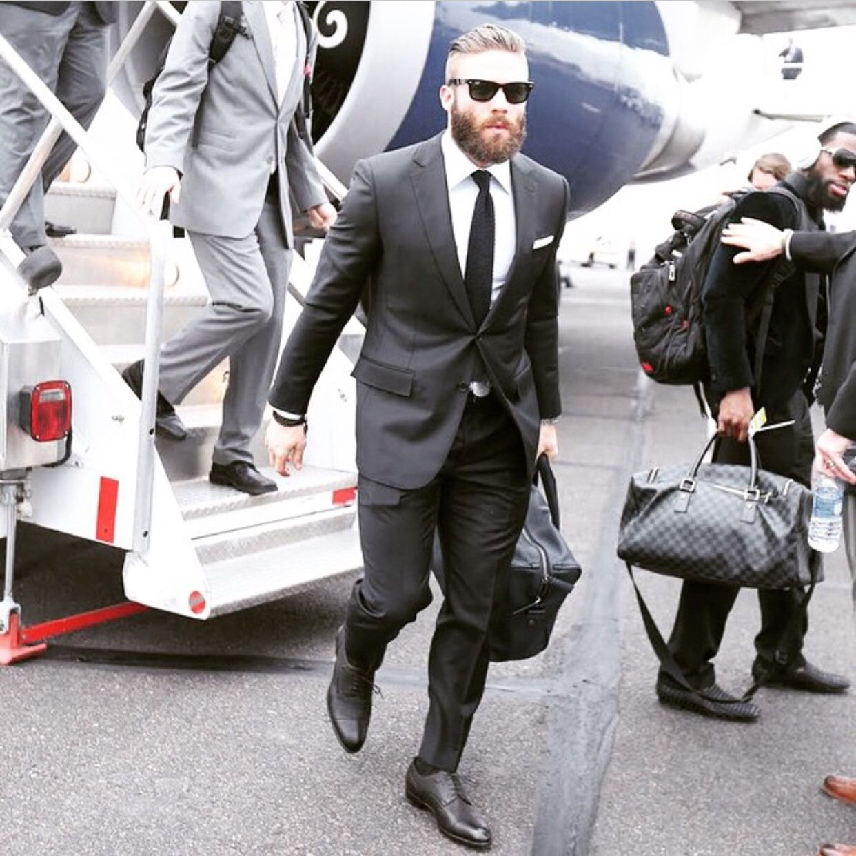 Dapper Julian Edelman Black Suit Fashion Julian Edelman New England Patriots Edelman