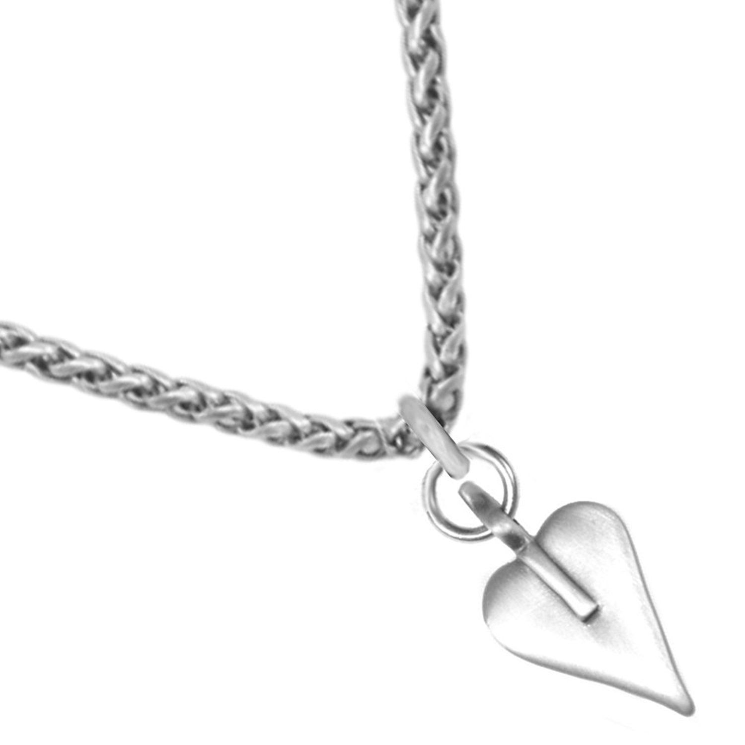 df45f4bb9 Classic Danon Jewellery: Signature Heart Pendant on Chunky Foxtail Chain  *** More info could be found at the image url. #Necklaces