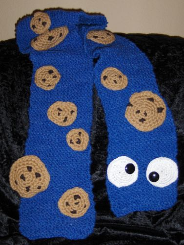 Cookie Monster Scarf | Cleverly Cookie Monster | Pinterest | Spinnen ...
