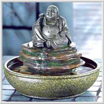 Buddha Statue Waterfall Table Top Water Fountain Water Fountain
