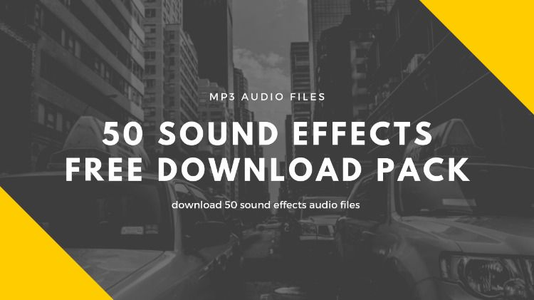 50 mp3 sound effects free download pack  |Royalty free audio stock