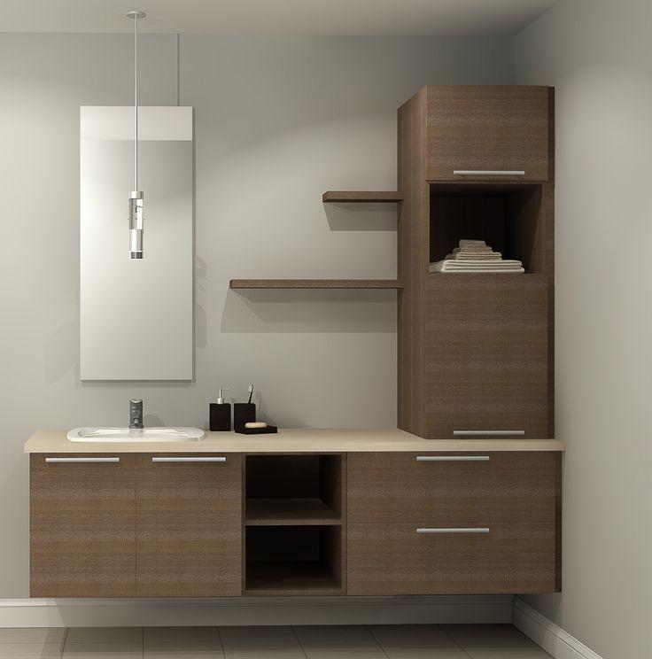 cool Idée décoration Salle de bain - Salle de bain - Kulina armoires - Sol Teck Salle De Bain