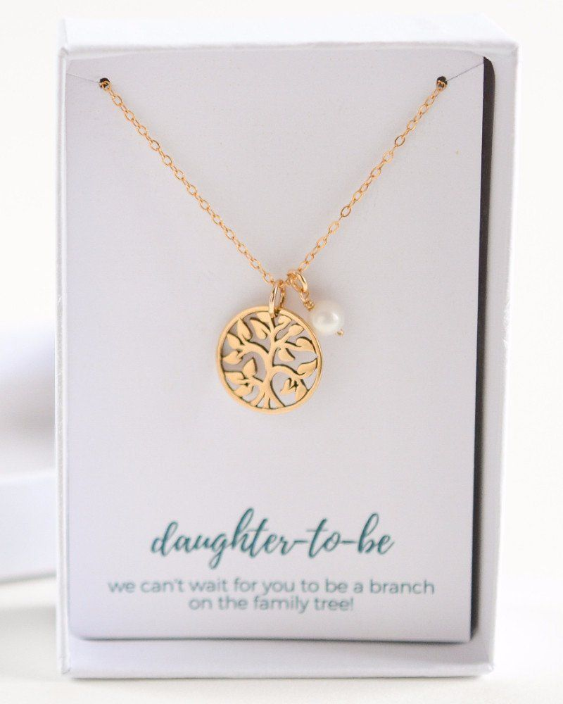 Perfect Gift For A Future Daughter In Law Let Her Now About Your Love And Reciation With This Necklace Tree Charm Pendant Personalized Birthstone