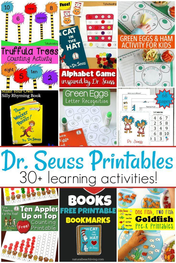 30 awesome dr seuss preschool worksheets children s book rh pinterest com