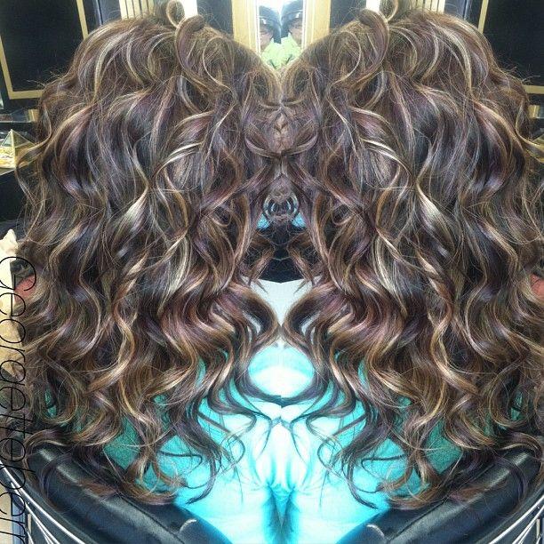 Pin By Chelsea On Hair Curly Hair Styles Hair Highlights Hair