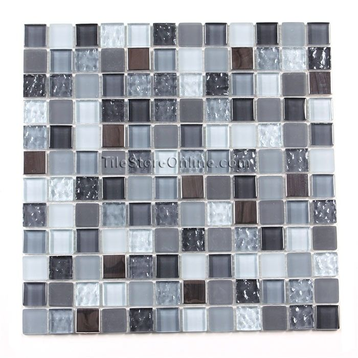 black grey tile backsplash for the home gray tile backsplash rh pinterest com