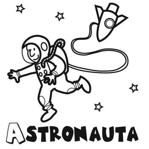Dibujo de un astronauta para pintar | Cole | Pinterest | Astronautas ...
