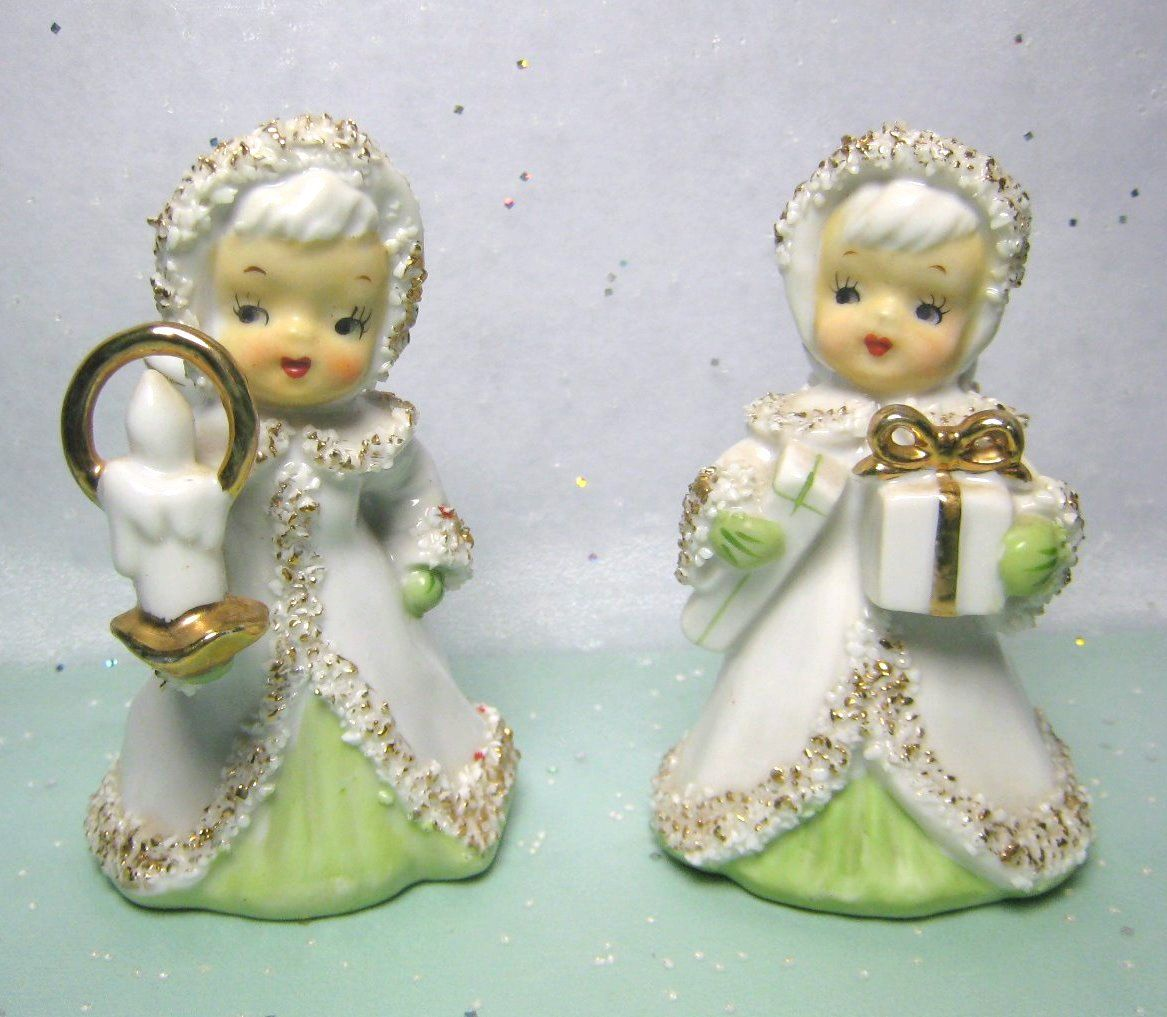Lefton Christmas Angel Bells  Set of Two    Sweet as Can Be