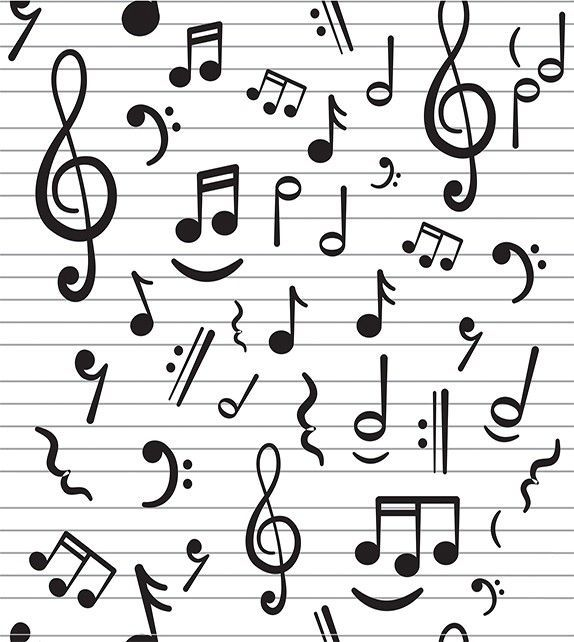 Papel De Parede Notas Musicais Notas Musicais Nota Musical