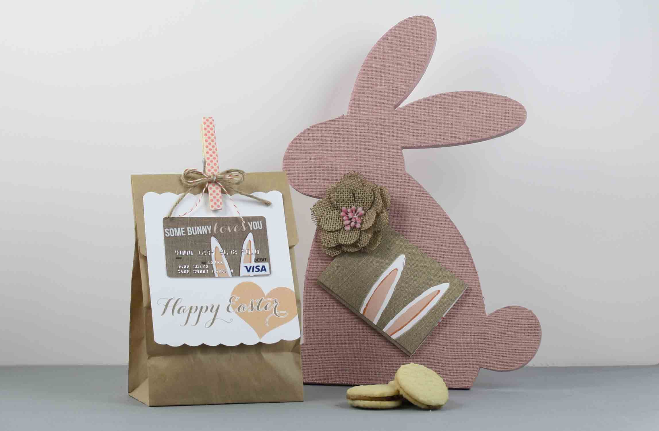 wedding gift card holders%0A Free Easter Burlap Bunny DIY Printable Gift Card Holder  Great Easter Gift  For Friends and