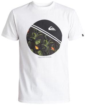 Quiksilver Men s Remix Graphic-Print T-Shirt - White 2XL Estampado 79b4ac33f6a