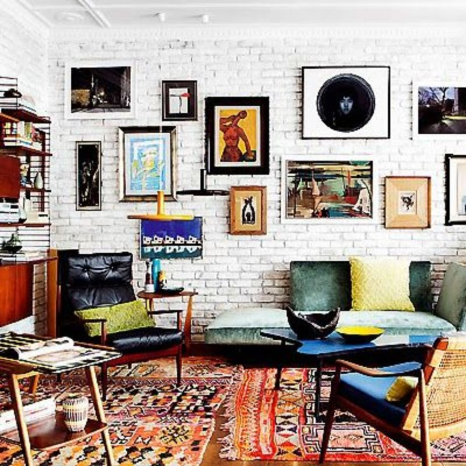 40 Vintage Living Room With Exposed Brick Decor