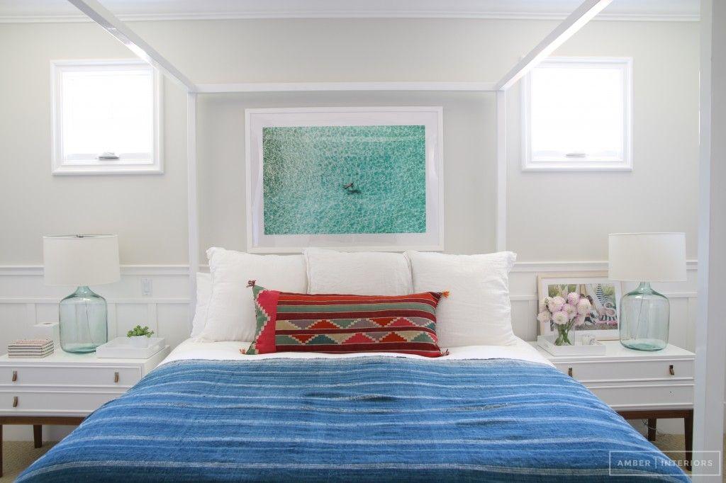 con la cama provenzal pintada blanca foto