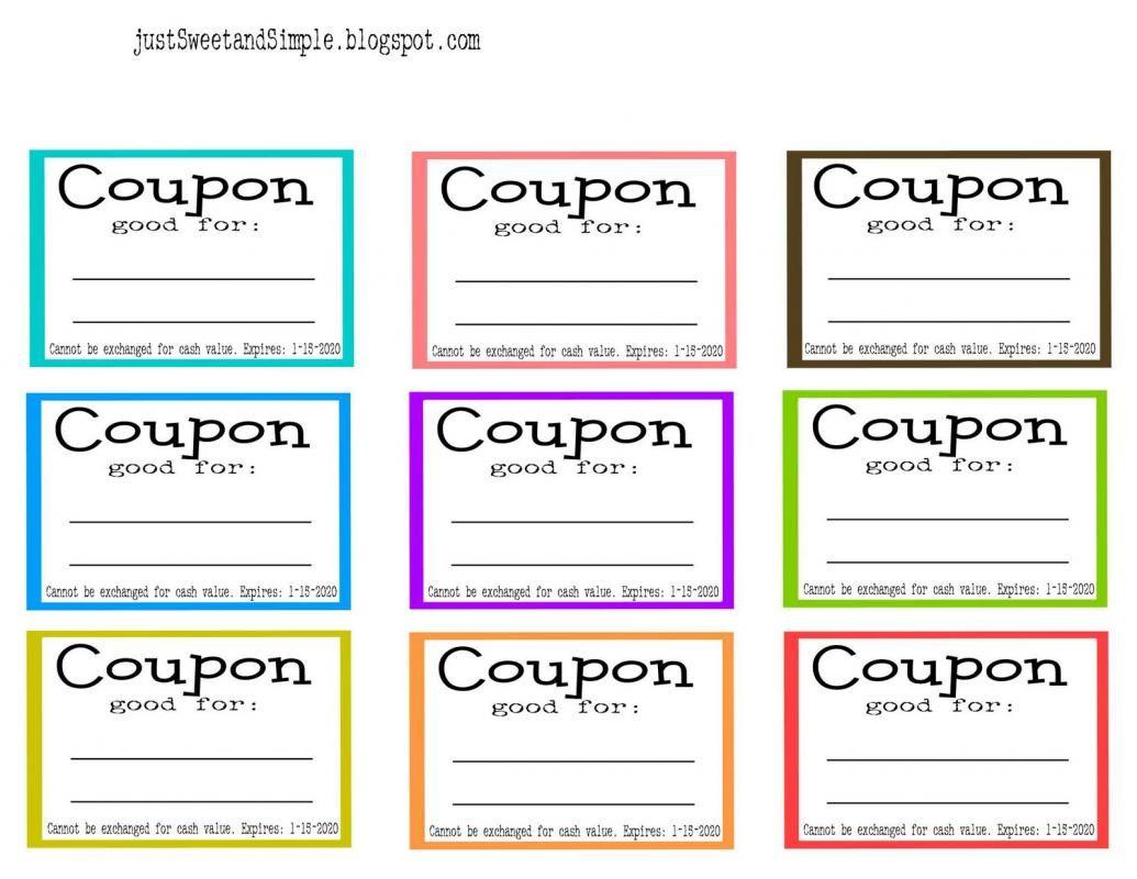 Coupon Template Word Printable Coupon Book Coupon Template