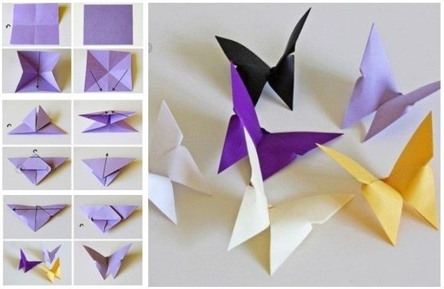 Diy Simple Paper Craft Step By Step Tutorials For Kids Kidpid Origami Easy Origami Butterfly Tutorial Diy And Crafts Sewing