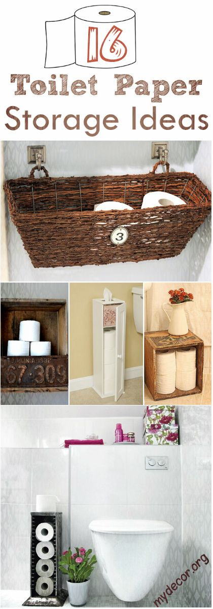 16 Practical and Creative Toilet Paper Storage