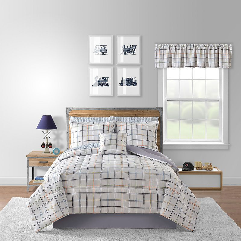 Flash Geometric Complete Bedding Set With Sheets Matching