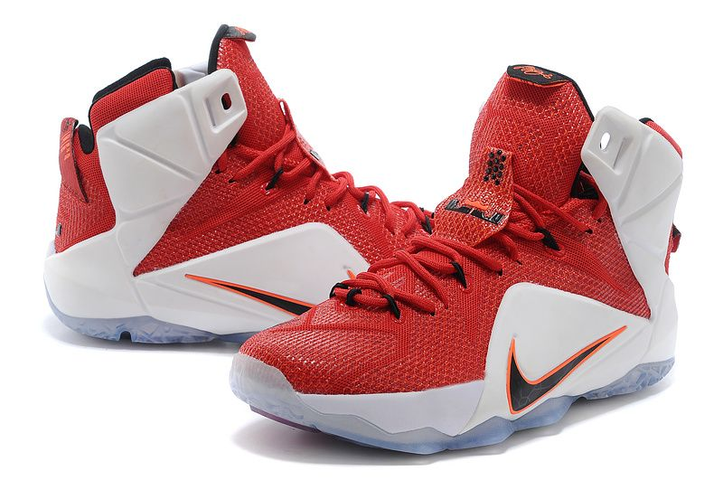 low priced 293ac aba49 Nike LeBron 12 Red White Lion Heart  129.99