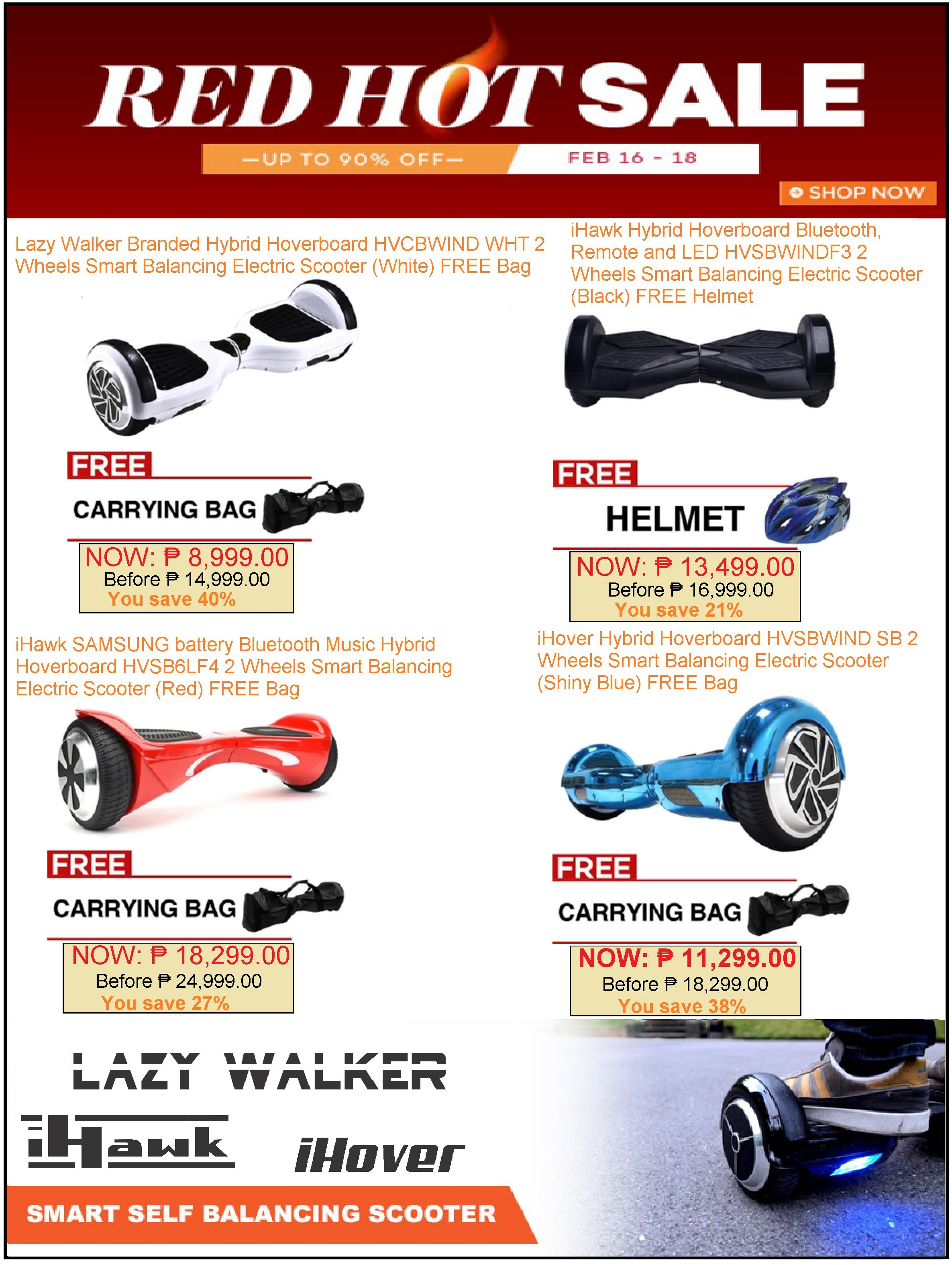 HOVERBOARD SALE LAZADA'S RED HOT SALE PROMO! SAVE up to