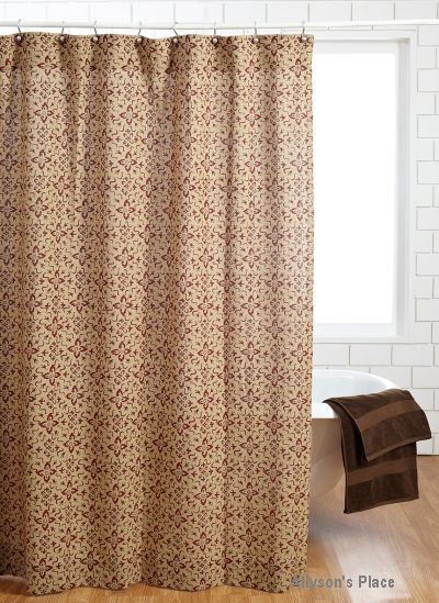 Lewiston Shower Curtain Burlap Printed Like Us On Facebook Allysonsplace Primitive Country