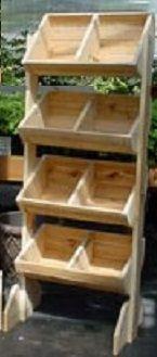 Exposição de estocada de tamanho médio 4 | Rack de chão de madeira | Rack de chão vertical