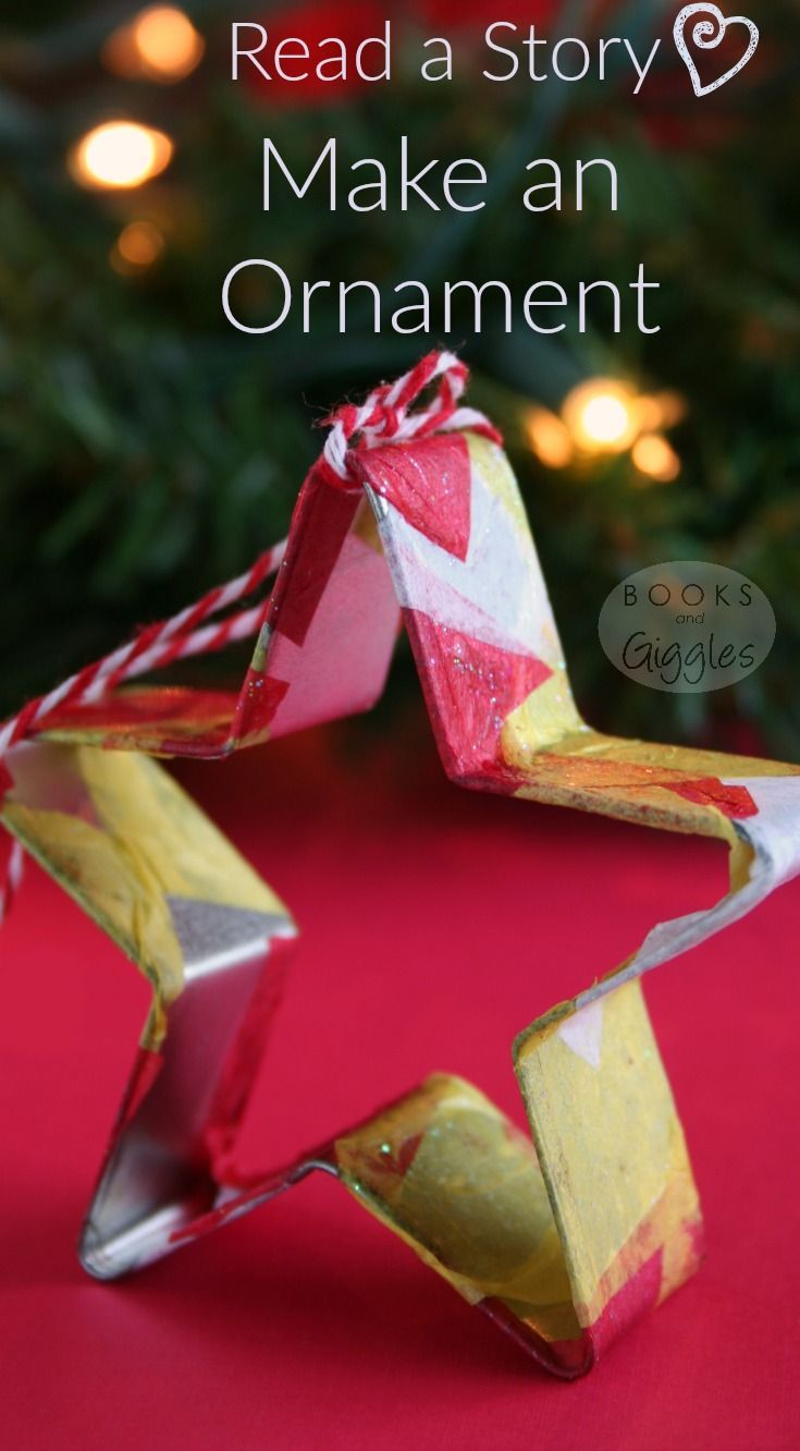 A cookie cutter Christmas ornament for kids