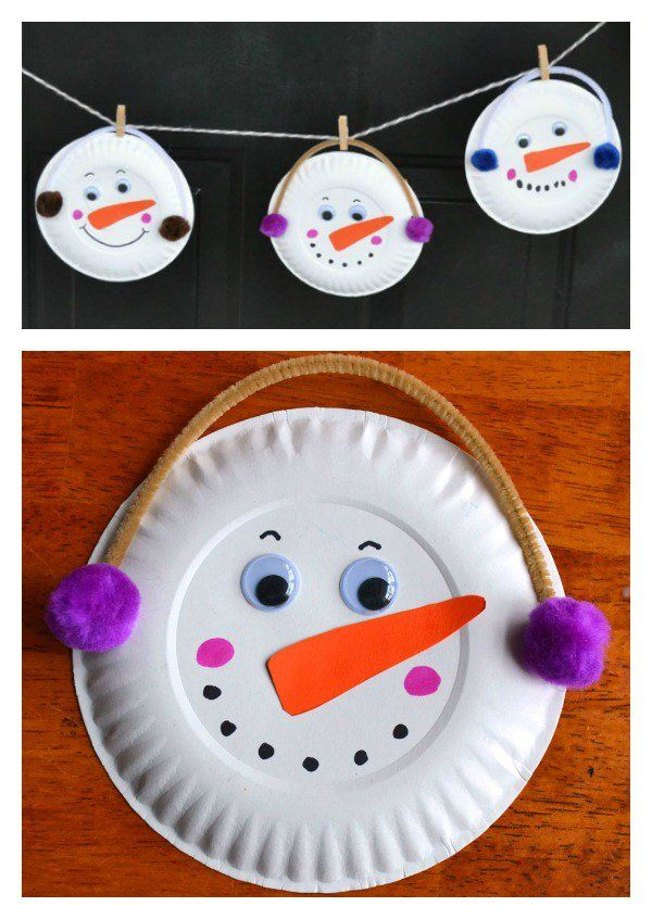 DIY Paper Plate Snowman Garland--Holiday Craft  sc 1 st  Pinterest & DIY Snowmen Garland | Diy paper Garlands and Snowman