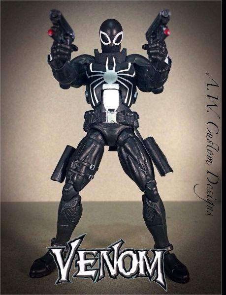Agent Venom - Flash Thompson (Marvel Legends) Custom Action Figure by AW Custom Designs Base figure: Steve Rogers