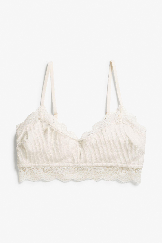 5097132175 Monki Soft bra in Off white | kleider in 2019 | Soft bra, Underwear, Bra