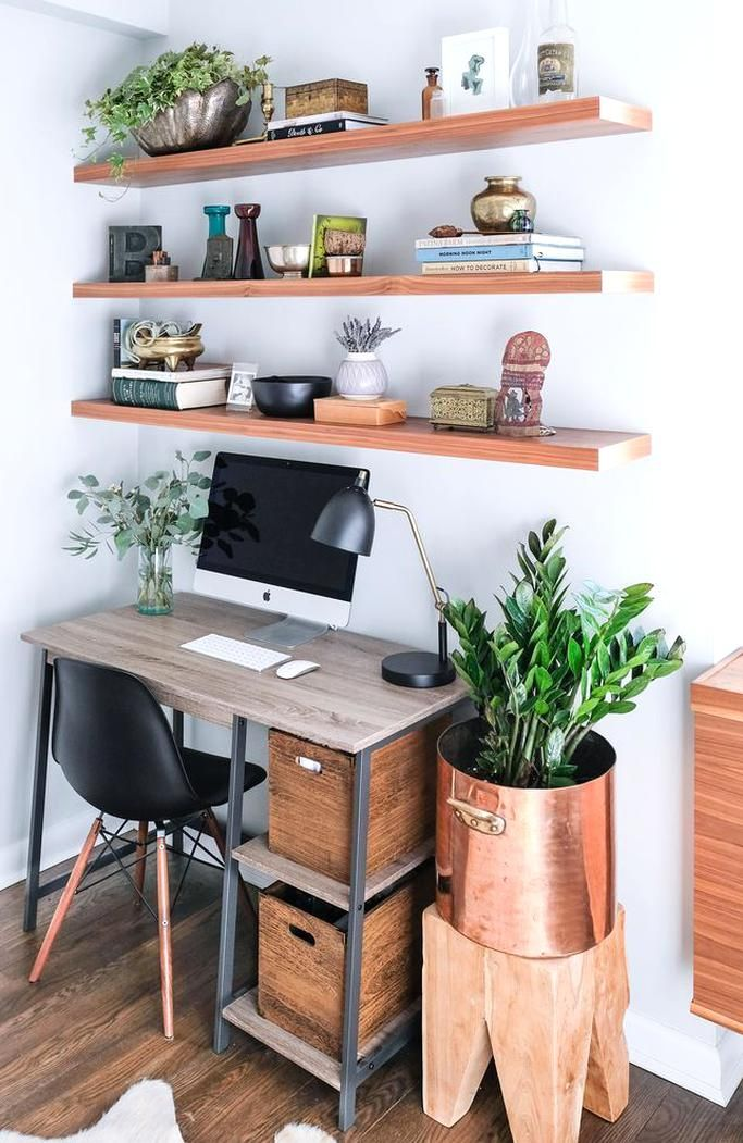Bevs office area The Gemelli Writing Desk is from Wayfair