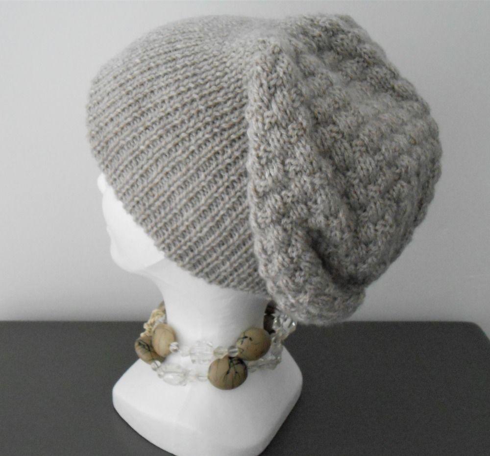 e46e1b8c650 Bonnet slouchy en laine pour femme   adolescente