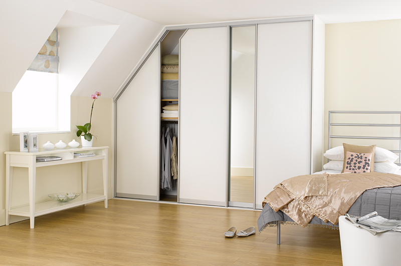 White Ash Mirror Built In Wardrobe Ideas Sliding Doors Loft