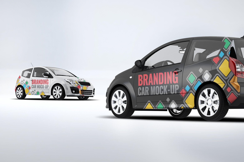 City Car Branding Mockup by L5Design on City car
