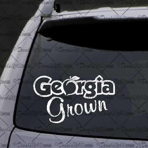 Georgia Grown Decal Decal Car Window Decal Sticker White