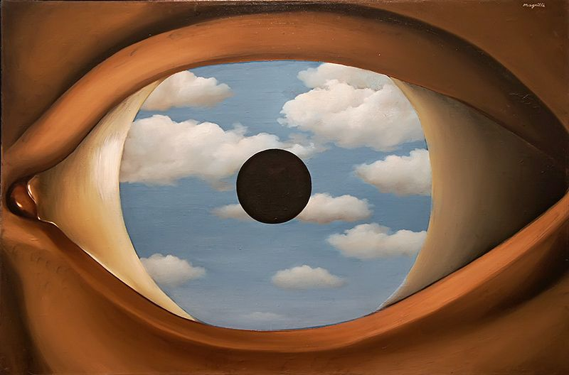 René Magritte The False Mirror