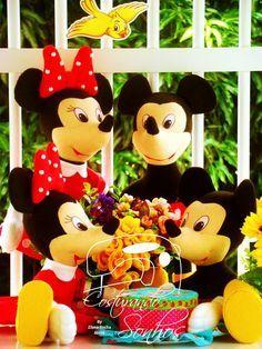 Mickey e Minnie Moldes em feltro