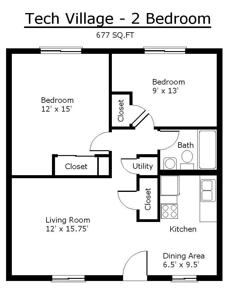 tiny house single floor plans 2 bedrooms | Apartment Floor ...