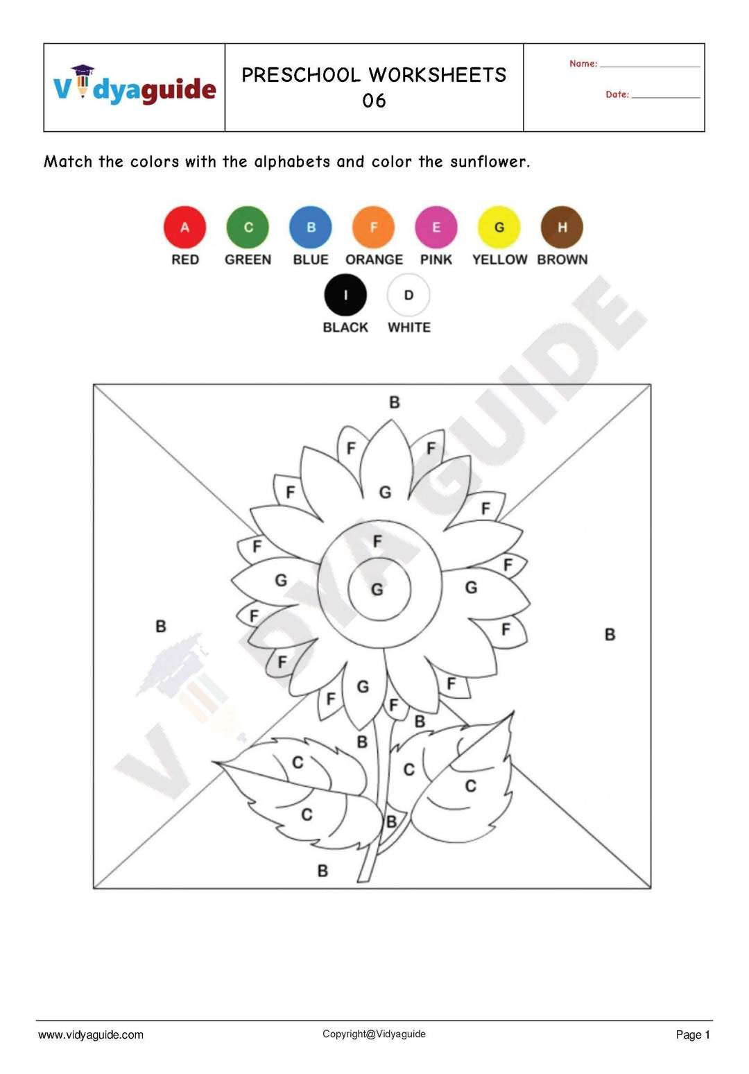 Free Printable Preschool Worksheet