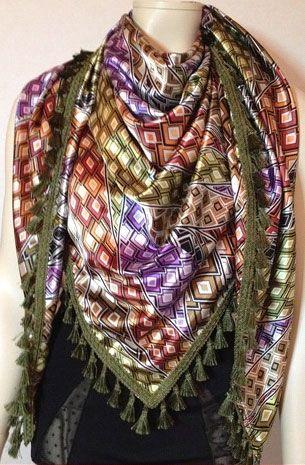 Driehoek sjaal maken