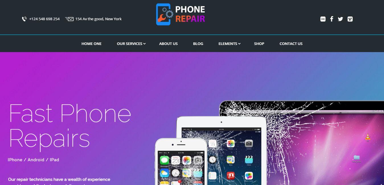 8 best tablet friendly wordpress themes phone repair