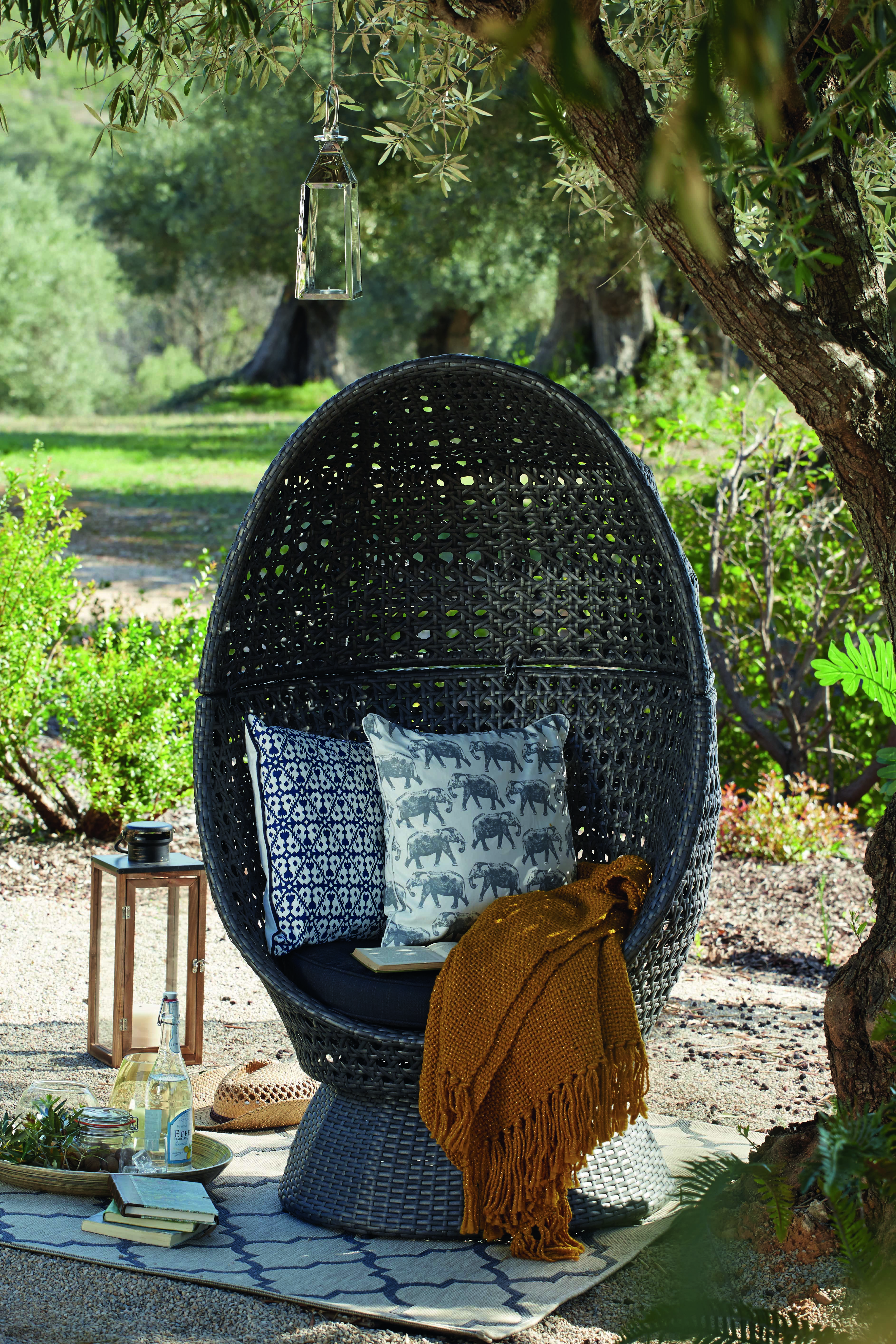 Balinese cocoon chair summer outdoors