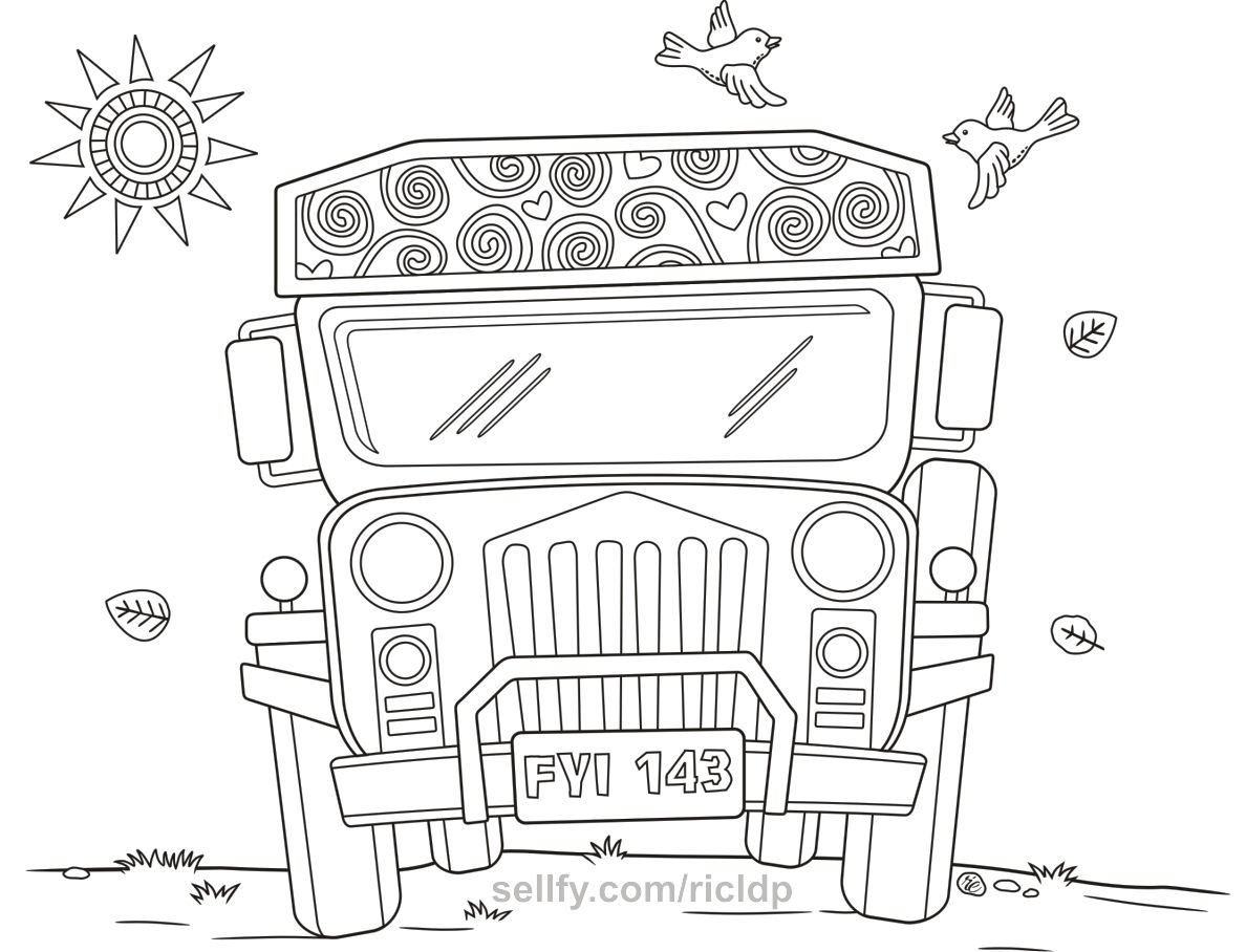 Philippine Jeepney Coloring Pages Set 2 Coloring Pages Jeepney