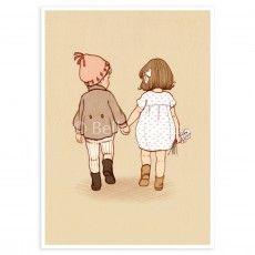 """""""Together"""" Postcard"""