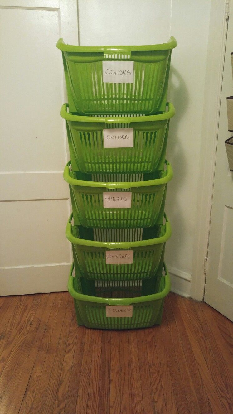 If You Live In A Small Space Stackable Laundry Baskets Are A Must