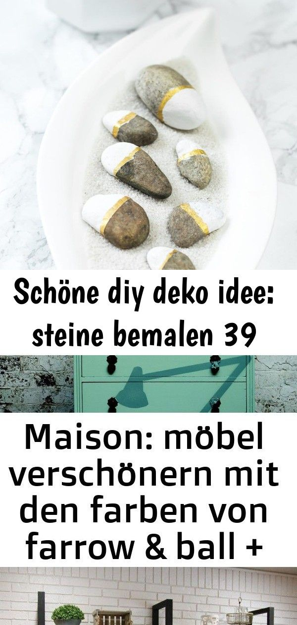 Schöne diy deko idee: steine bemalen 39 #steinebemalenanleitung