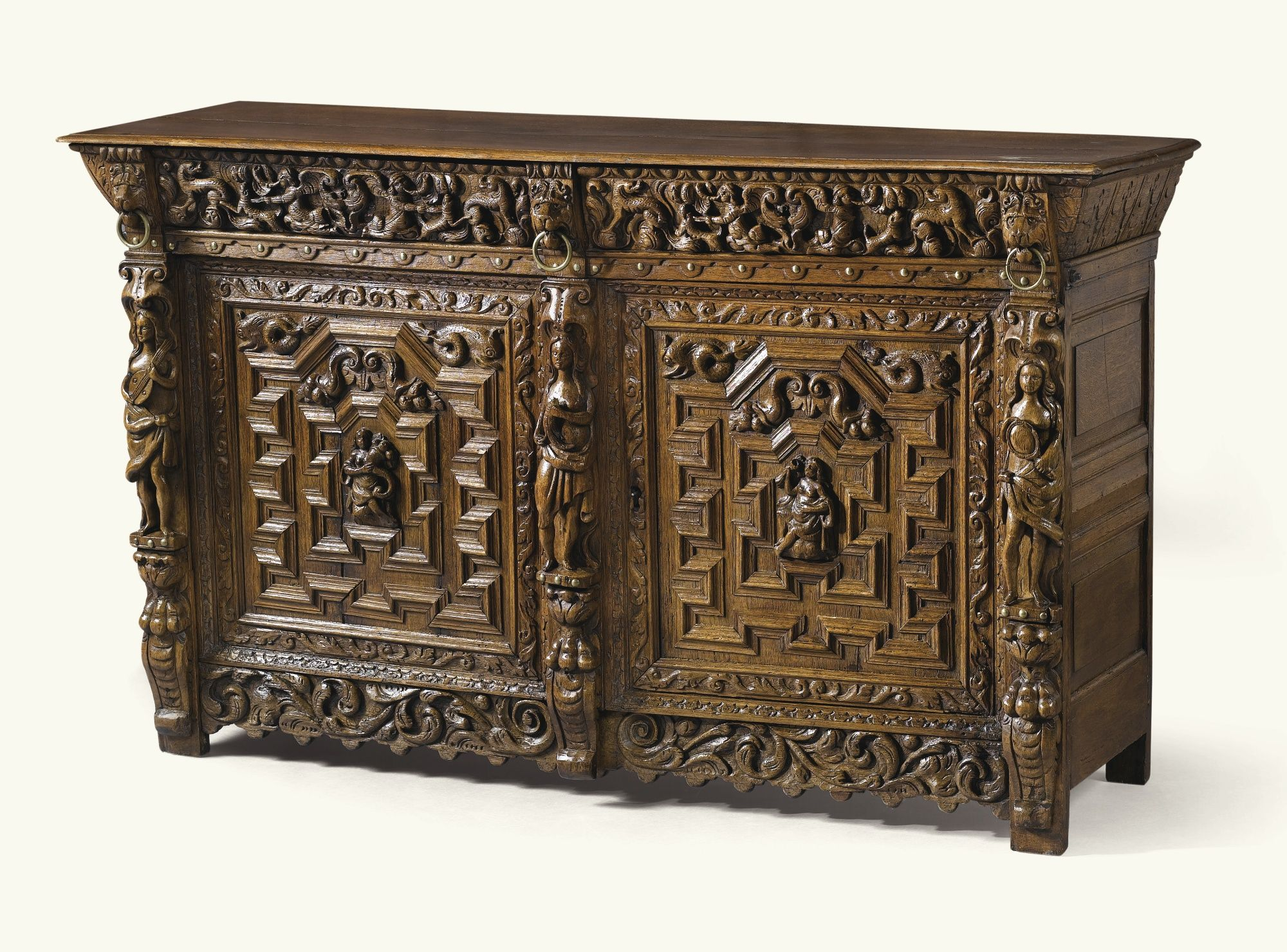 Meubles Antiquités Belgique A Carved Oak Cupboard Antwerp Mid 17th Century Mobilier