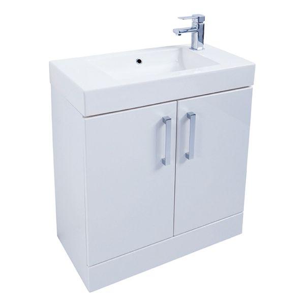 Prestige Fiji 2 Door Floor Standing Vanity Unit With Basin 700mm