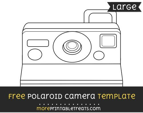 free polaroid camera template large shapes and templates